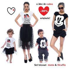 Seturi #tricouri mama & fiica cu -30% #reducere online | Outlet online