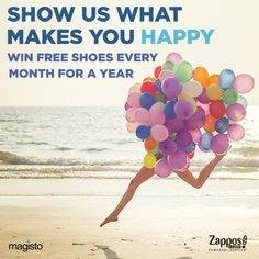 Make a movie about what makes you happy for the chance to win free shoes for a year! Create a movie with #Happiness in the title before the end of the day TODAY to be eligible for our first round of prizing!