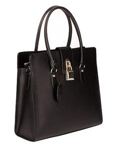 dffb97d6792de Schwarze Tasche aus Nappa-Leder von Patrizia Pepe