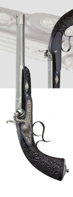 A percussion pistol. Liege, circa 1860