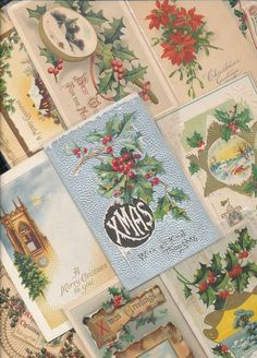 Lot of 10 ANTIQUE EARLY 1900s HOLIDAY Postcards * CHRISTMAS * -a729 #Christmas