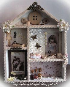 ..............................Plony's Bloggie.............................: Houten huis/letterbak