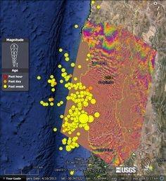 On September 16th, 2015 a magnitude 8.3 earthquake struck just off the coast of Chile. It was more energetic than the Nepal Earthquake earlier this year, but resulted in far less casualties because Chile has more frequent large earthquakes and is better prepared. For the Nepal Earthquake we showed you a map from NASA showing …