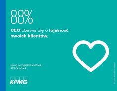 88% CEO obawia się o lojalność swoich klientów #CEOoutlook #CEO #KPMG #KPMGPoland