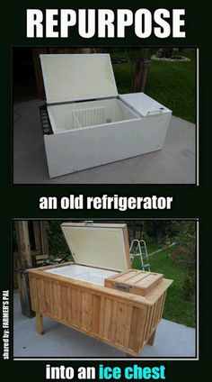 Repurpose and old refrigerator into an ice chest