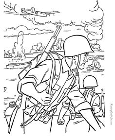 army printable coloring sheet | American military history coloring ...