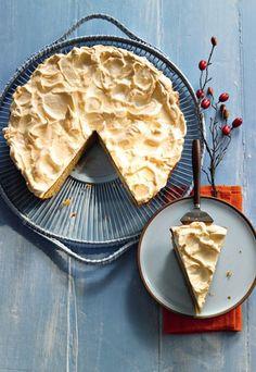 Birnenkuche mit Baiserhaube - Der perfekte Kuchen  als Dessert im Herbst. Rezept auf www.gofeminin.de/kochen-backen/herbstrezepte-d42180.html