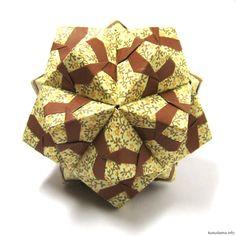Caleidoscópio Designer ,: Natalia Romanenko  as Unidades: 30  o papel: 7,5 * 7,5 cm  de altura final: ~ 7 cm  montado sem cola - Kaleidoscope (tutorial) | kusudama.info
