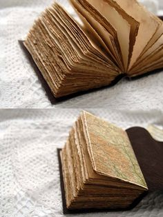 The Traveler Rustic Brown Leather Journal with Tea Stained