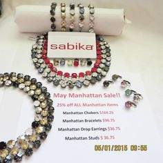 I am SO excited about the Sabika May Specials for you!  This is a great Opportunity to get earrings Bracelets and Chokers at a really good price..Let me know how I can help you  stephaniesabika@gmail.com or 412-915-5982