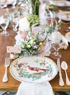 love this beautiful french vintage inspired wedding place setting!  ~ we ❤ this! moncheribridals.com
