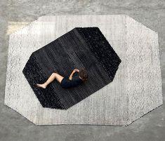 Black On White Semis Carpet by Bouroullec - InteriorZine