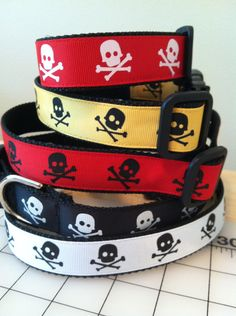skull and crossbones dog collars