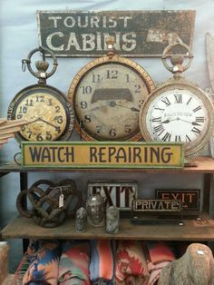 American trade sign clocks....wowza!
