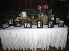 Memory Table Ideas high school graduation memory table idea high school senior isn The Rest Of The Wedding Crafts Funeral Ideasmemorial Ideasmemory Tablewedding