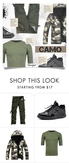 """""""CAMOUFLAGE LOOK"""" by larissa-takahassi ❤ liked on Polyvore featuring men's fashion and menswear"""