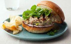 Tuna Burgers with Tapenade Aioli Recipe by Bobby Flay