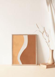 Diy Wall Art, Diy Art, Yellow And Brown, Diy Canvas, Wall Art Designs, Abstract Wall Art, Minimalist Art, Printable Wall Art, Wall Art Prints