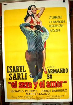 Isabel Sarli Armando Bo !!! Afiche Cine Orig 1974