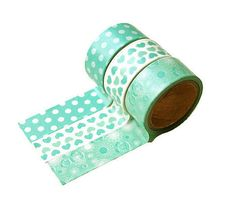 Mint washi tape set of 3 washi tape lot of 3 by LoveStickyNotes