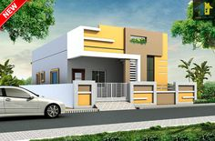 new 30 Single Floor House Design, Floor Design, Modern House Design, Happy Diwali Pictures, Front Elevation Designs, Beautiful Small Homes, Best Mods, House Front, Ground Floor