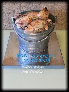 Торты для мужчин - Сообщество «Кондитерская» - Babyblog.ru Crab Birthday Cakes, Cakes For Men, Little Cakes, Cake Art, Let Them Eat Cake, Cake Decorating, Food And Drink, Fish, Baking