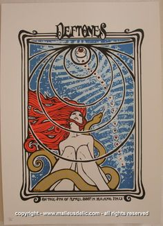 2007 Deftones Silkscreen Concert Poster by Malleus
