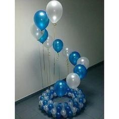 Balloons stands make pretty entrances Birthday Balloon Decorations, Balloon Centerpieces, Birthday Balloons, Balloon Flowers, Balloon Bouquet, Baby Boy Balloons, Bridal Shower Balloons, White Wedding Decorations, Balloon Stands
