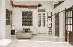 I'm also seeing alot of typography used for everything from walls, to pillows to staircases:  interior image by DeCesare   (interior image ...