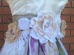 Purple and Green Wedding Sash Vintage by ShabbyGirlNextDoor, $45.00