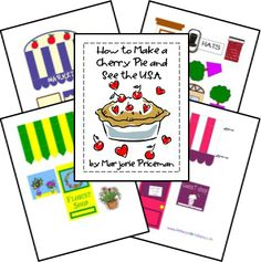 """""""How to Make a Cherry Pie and See the U.S.A. """"Unit and Lapbook...Can use the street scenes for an activity for """"How to make an apple pie."""" (Five in a Row)"""