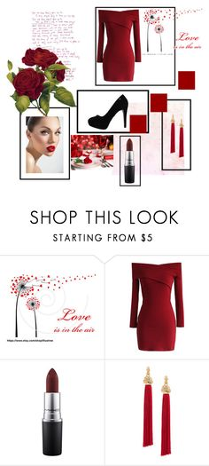 """""""Red"""" by selma-masic1 ❤ liked on Polyvore featuring Chicwish, MAC Cosmetics and Yves Saint Laurent"""