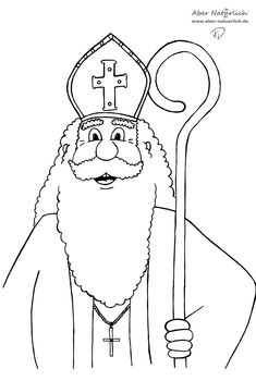 Coloring Page Saint Nicholas Day Catholic Faith Pinterest