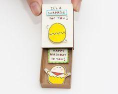 Surprise Birthday Card Matchbox/ Gift box/ It's a by shop3xu