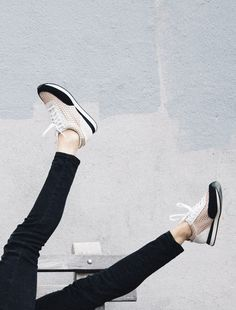 Sneakers we love: Rio, Loeffler Randall. #white #gold