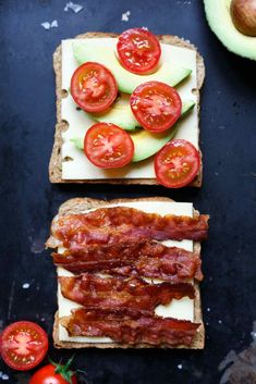 Avocado Bacon Grilled Cheese Sandwich Rezept - Kochkarussell - Famous Last Words 1000 Calories, Bacon Sandwich Recipes, Grilled Sandwich, Burger Recipes, Monte Cristo, Seafood Recipes, Chicken Recipes, Queso Fundido, Toast Sandwich