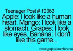 bahahahahaha! poor banana!