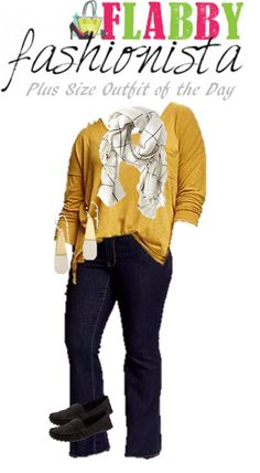 Plus Size Outfit of the Day – Flannel Scarf