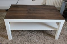 ikea lack coffee table hack stained wood- grey weatherd stain would be beautiful