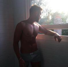 Hazy Mornings. Pic by @lukedubblede #joshuamiguel #model #menswear #underwear #readyforwork