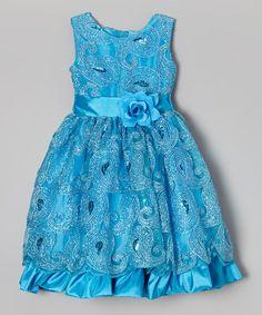 Look what I found on #zulily! Blue Swirl Sequin Dress - Infant, Toddler & Girls by Kid Fashion #zulilyfinds