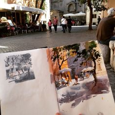 Watercolor Sketchbook, Art Sketchbook, Watercolor Paintings, Watercolour, Sketchbook Inspiration, Urban Sketching, Traditional Art, Art Inspo, Art Reference