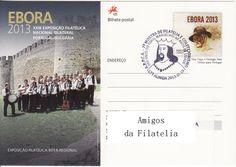Bilhete postal com carimbo comemorativo 7.ª mostra de coleccionismo A.R.P.C.A