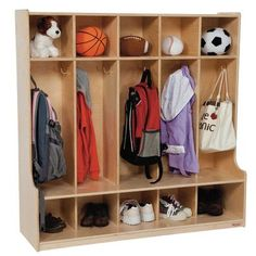 Wood Designs 1 Tier 3-Section Seat Locker Number of Sections: 5, Color: Natural