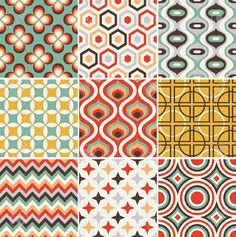 Seamless Retro Pattern Royalty Free Cliparts, Vectors, And Stock Illustration…