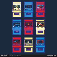 sci-fi arcade 8 bit pixel alien