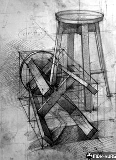 25 Chair Pencil Drawing Ideas – Welcome My World 3d Drawings, Drawing Sketches, Pencil Drawings, Drawing Ideas, Structural Drawing, Technical Drawing, Chair Drawing, Sink Drawing, Drawing Exercises