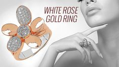 Guide to buy affordable cost gold ring for women available in white rose gold design!