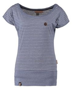 Naketano WOLLE DIZZY - T-Shirt basic - smoky blue melange - Zalando.de