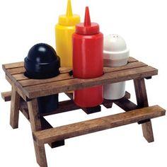 Fancy - Picnic Table Condiment Sethttp://eccentricinventions.com/kitchen-gadgets/#49